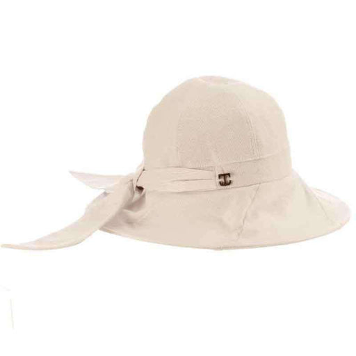 Sag Harbor Rough Cotton Shapeable Brim Cloche - Callanan