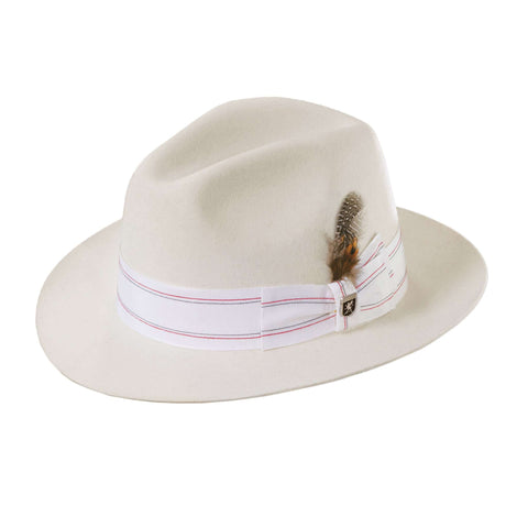 Stacy Adams Snap Brim Fedora - Ivory