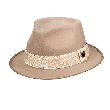 Stacy Adams Teardrop Fedora - Khaki - SetarTrading Hats