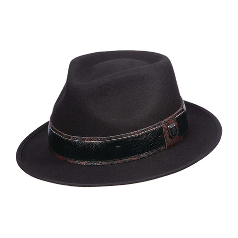 Stacy Adams Teardrop Fedora - Black