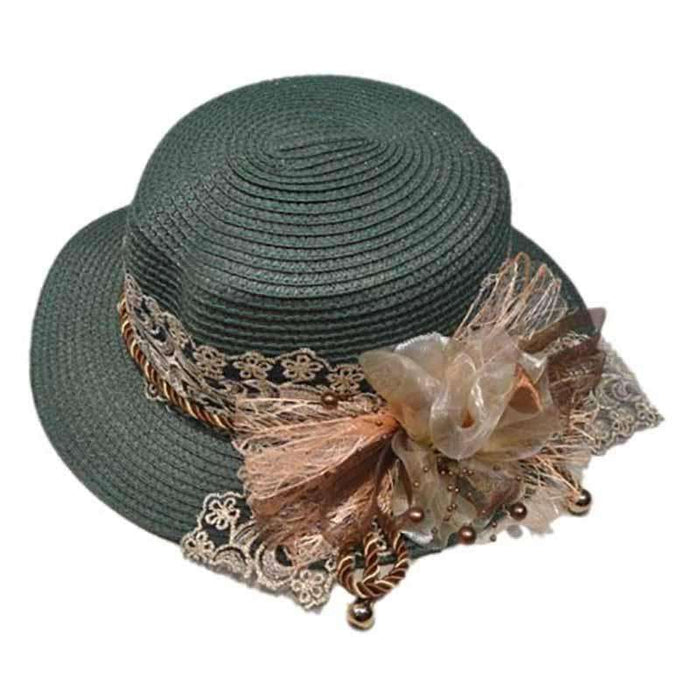 Vintage Inspired Straw Boater Hat