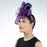 Purple Sideswept Sinamay Fascinator Headband - KaKyCO