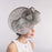 Silver Grey Sideswept Sinamay Cocktail Hat - KaKyCO