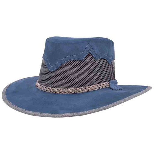 Head'n Home Sirocco Outback Leather Hat up to XXL - Denim