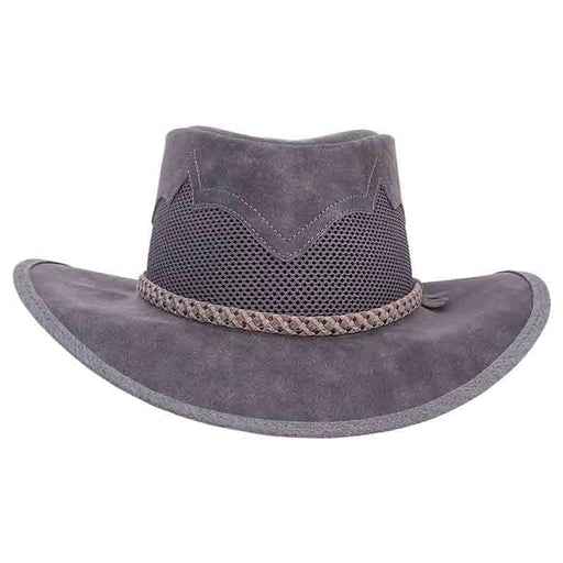 Head'n Home Sirocco Outback Leather Hat up to XXL - Bomber Grey