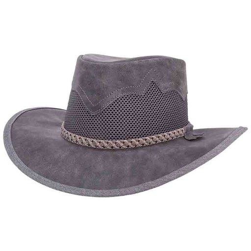 Head'n Home Sirocco Outback Leather Hat up to 3XL - Bomber Grey
