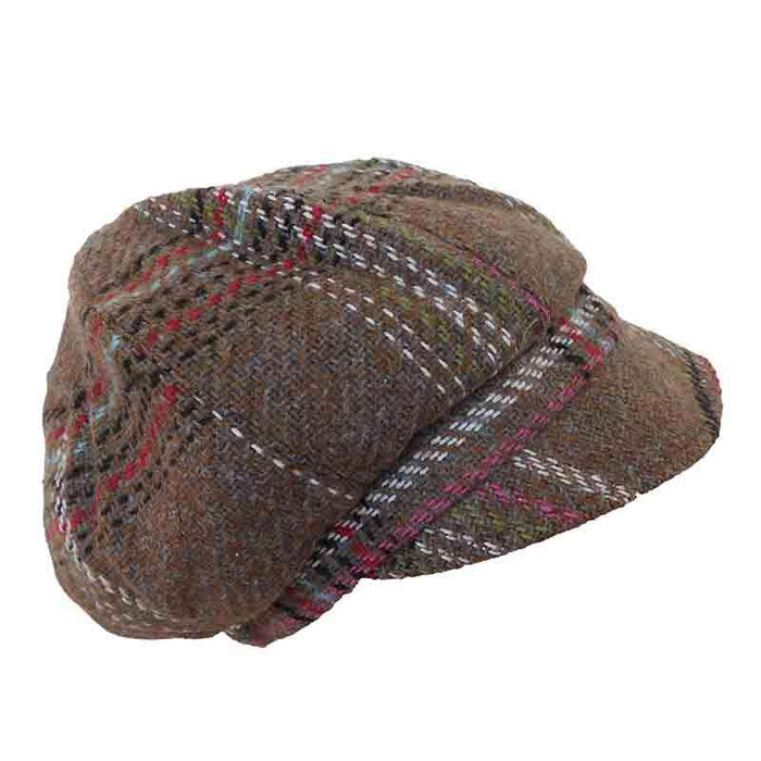 Plaid Slouchy Winter Cap by JSA