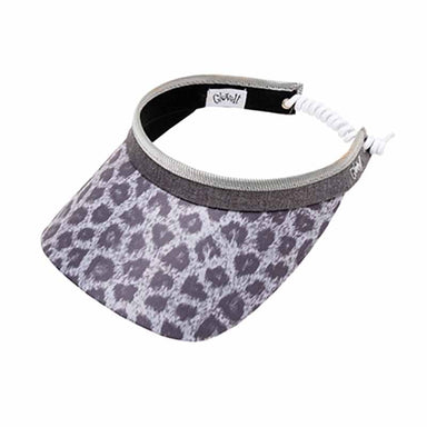 Snow Leopard Golf Sun Visor with Coil Lace by GloveIt