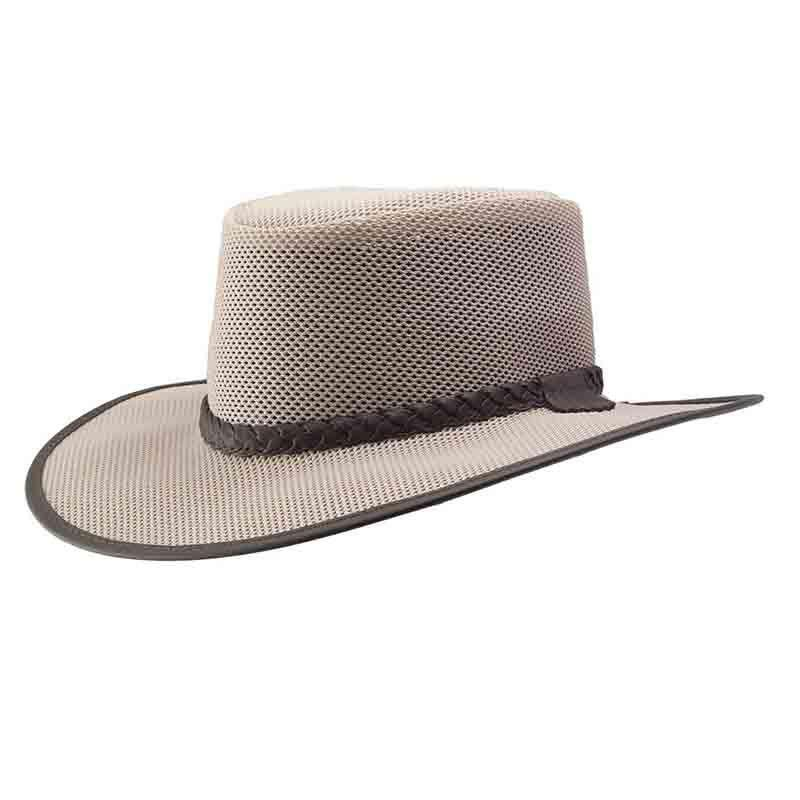 Soaker SolAir Breathable Mesh Shade Outback Hat by Head 'N Home-Eggshell