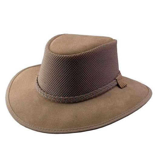 Monterey Breeze SolAir Suede and Mesh Shade Hat by Head 'N Home - Bark - SetarTrading Hats