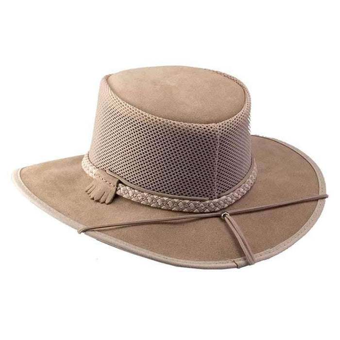 Monterey Breeze SolAir Suede and Mesh Shade Hat by Head 'N Home - Latte - SetarTrading Hats
