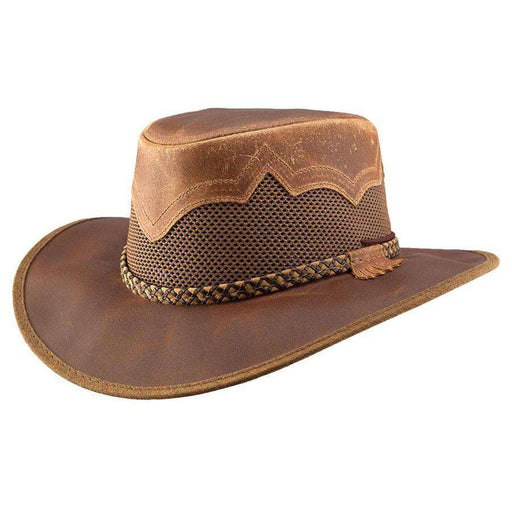 Sirocco Leather Outback - Brown - SetarTrading Hats