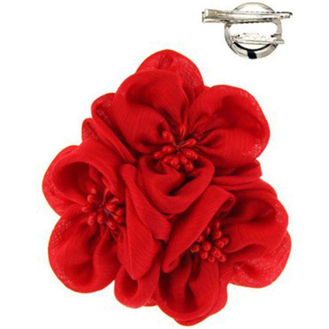 Triple Flower Brooch Pin