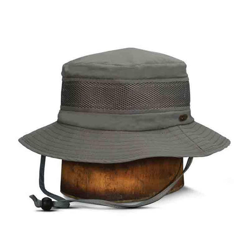 stc199 stetson no fly zone fishing hat insect repellent mesh crown chin strap neck cape
