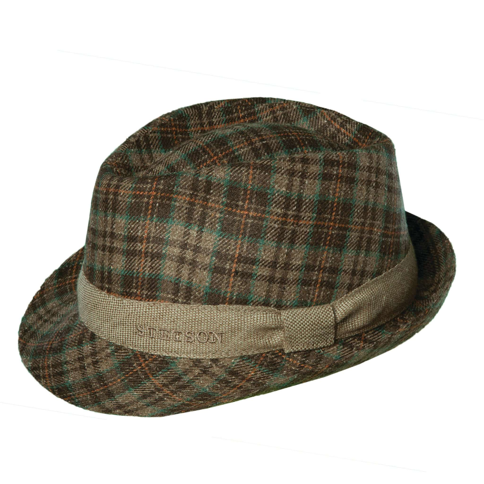 Stetson Taylor Silk Plaid Fedora - SetarTrading Hats