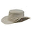 stetson microfiber boonie hat with chin strap khaki snap side