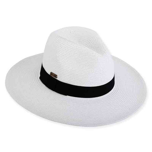 Wide Brim Straw Safari Hat with Black Band - Sun'N'Sand