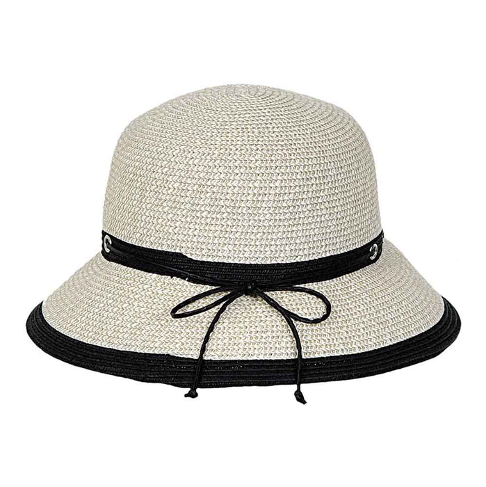 Two Tone Summer Cloche - Karen Keith