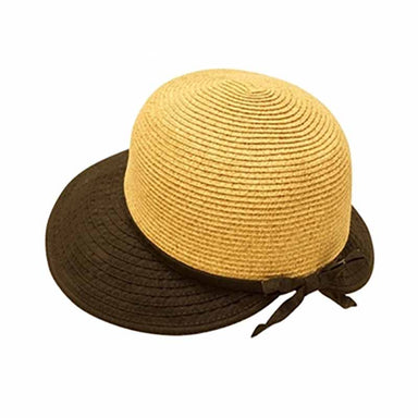 straw facesaver cap women hat ribbon brim sun protection upf50 black boardwalk style