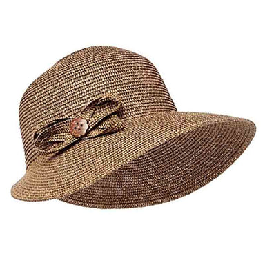 straw facesaver hat black heather women cap sun protection coconut button boardwalk style