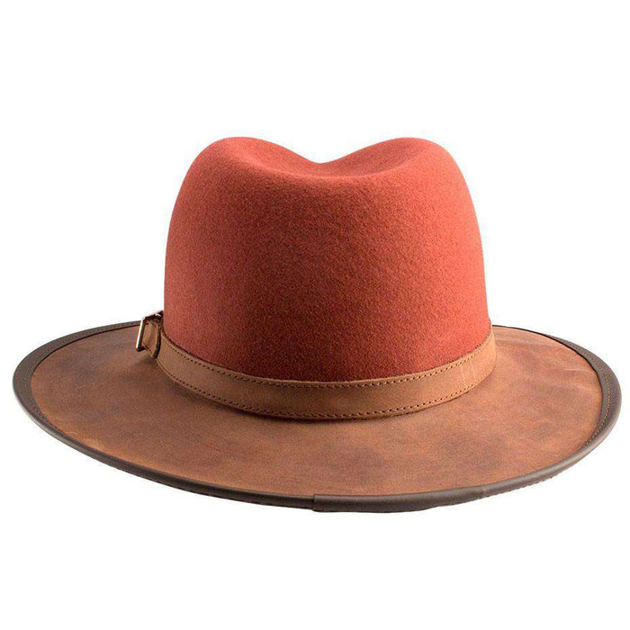 Summit Wool and Leather Outback Hat -Blood Orange - SetarTrading Hats