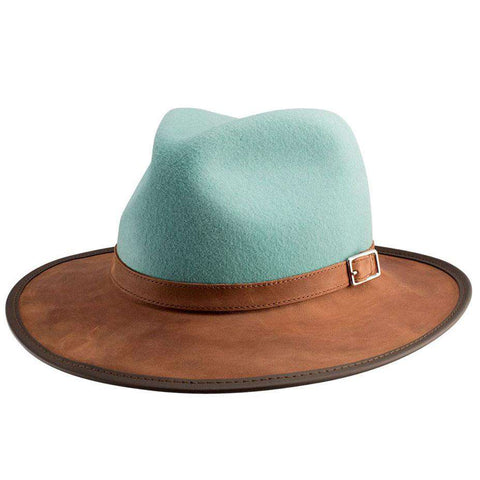 Summit Wool and Leather Outback Hat -Sage