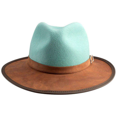 Summit Wool and Leather Outback Hat -Sage - SetarTrading Hats