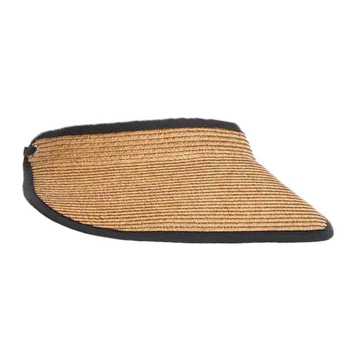 Earlene Straw Sun Visor with Elastic Back - DPC