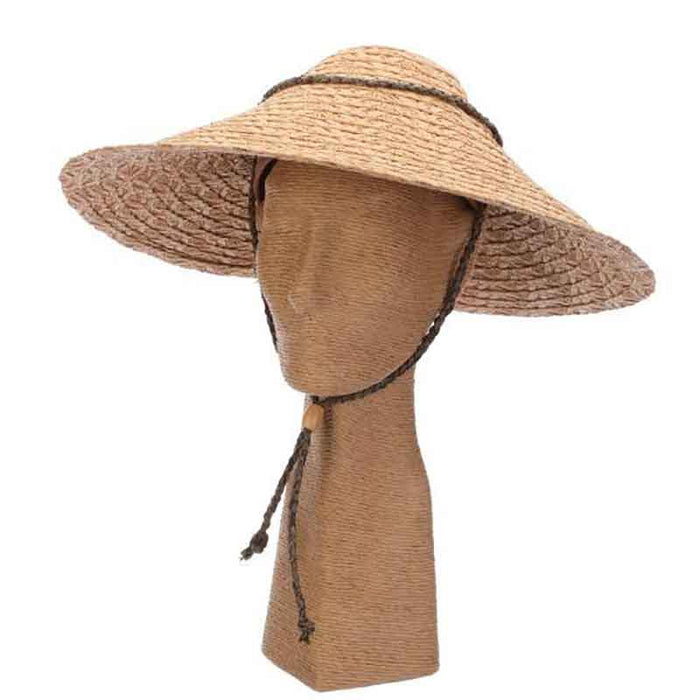 Twisted Toyo Beachbrella Hat with Chin Cord - Callanan