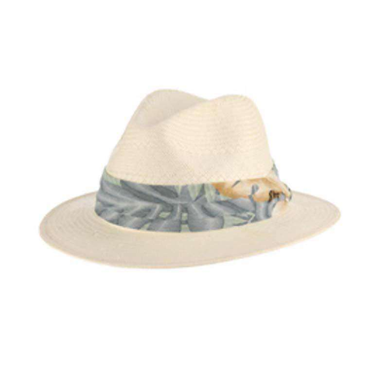 Tommy Bahama 5 BU Toyo Safari Hat with Tropical Band - Mai Tai