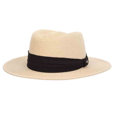 Braid Gambler Hat with 3-Pleat Cotton Band - Tommy Bahama