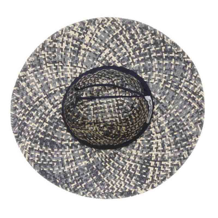 Chiloe Woven Straw Navy Blue Safari Hat - Tommy Bahama