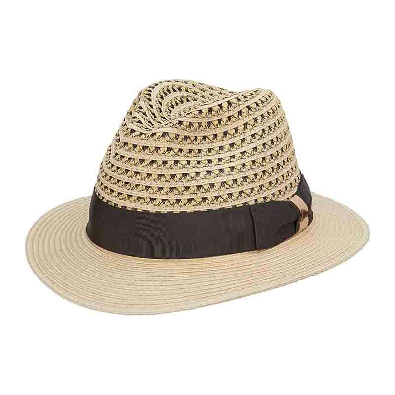Tommy Bahama Vented Crown Fedora with TB Marlin Pin