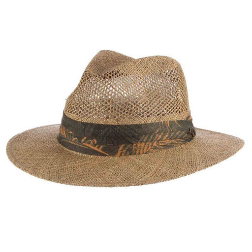tommy bahama los cabos sea grass safari hat with tropical three pleat band