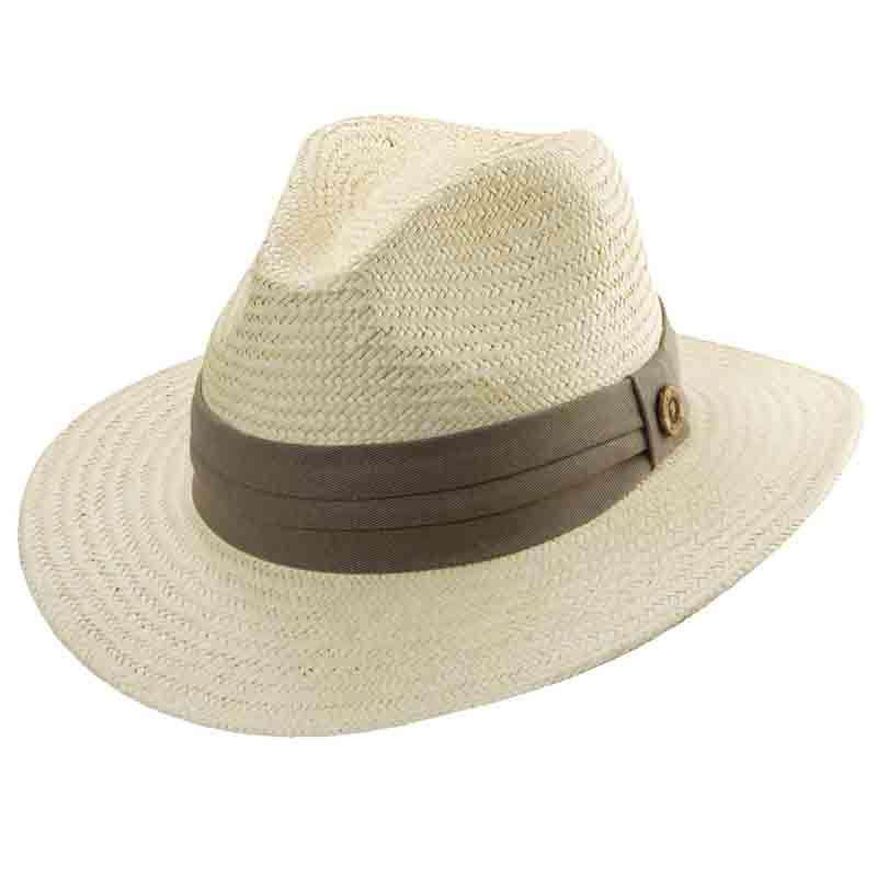 Tommy Bahama Palm Safari Hat with Taupe Band