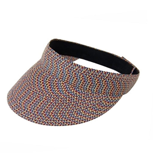 Traditional Sun Visor Tweed Straw Braid - Boardwalk Style