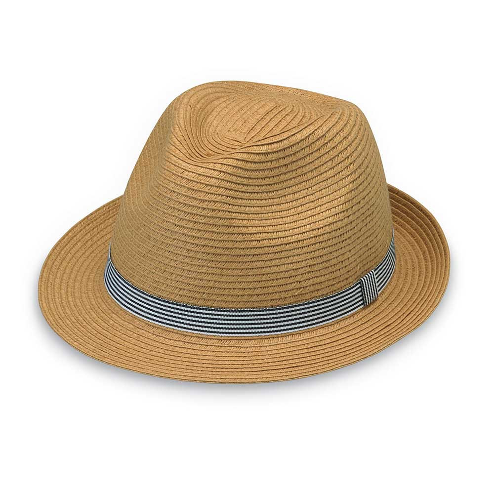 Trilogy Striped Band Unisex Trilby for Small Heads - Wallaroo Hats