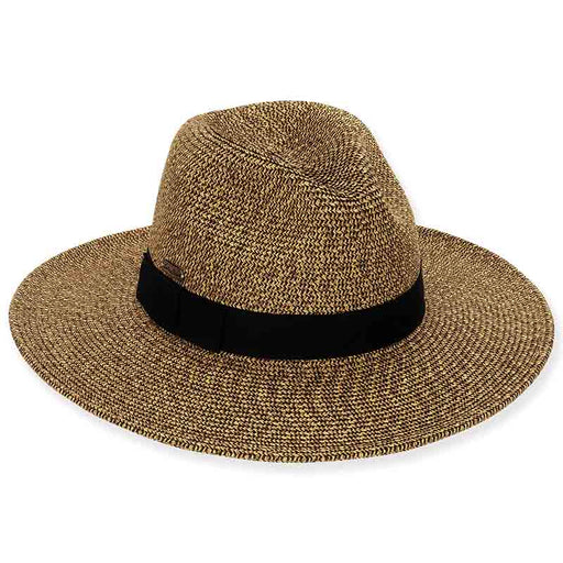 Wide Brim Tweed Straw Safari Hat - Sun'N'Sand