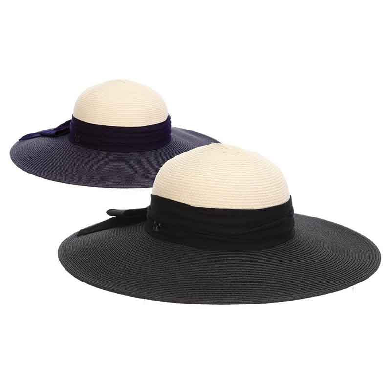 Fine Braid Two Tone Floppy Sun Hat - John Callanan