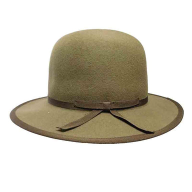 Unisex Wool Felt Hat with Grosgrain Ribbon - JSA Hats