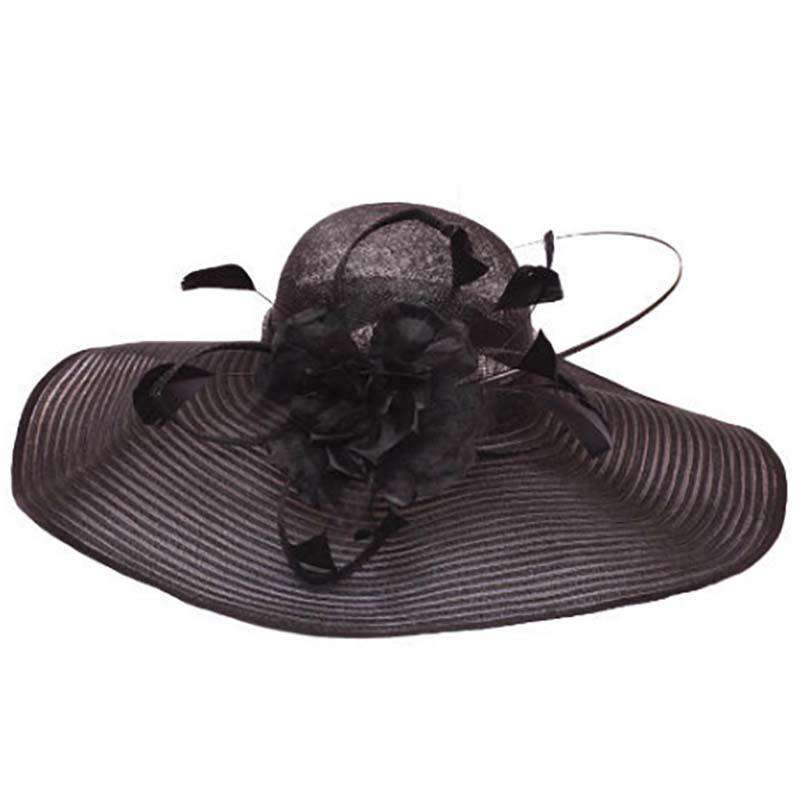 Large Brim Sinamay Church Hat - SetarTrading Hats