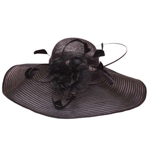 Large Brim Sinamay Church Hat