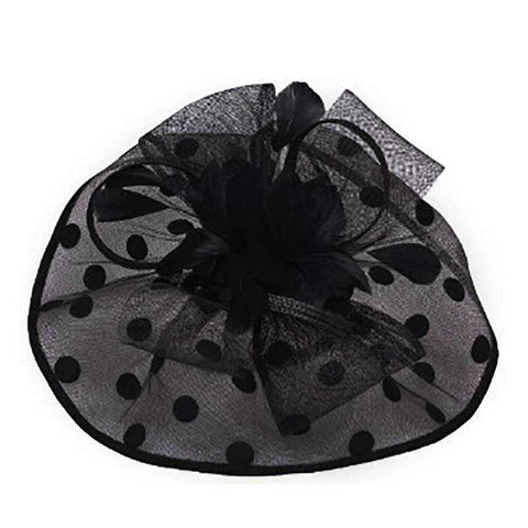 Polka Dot Sinamay Fascinator