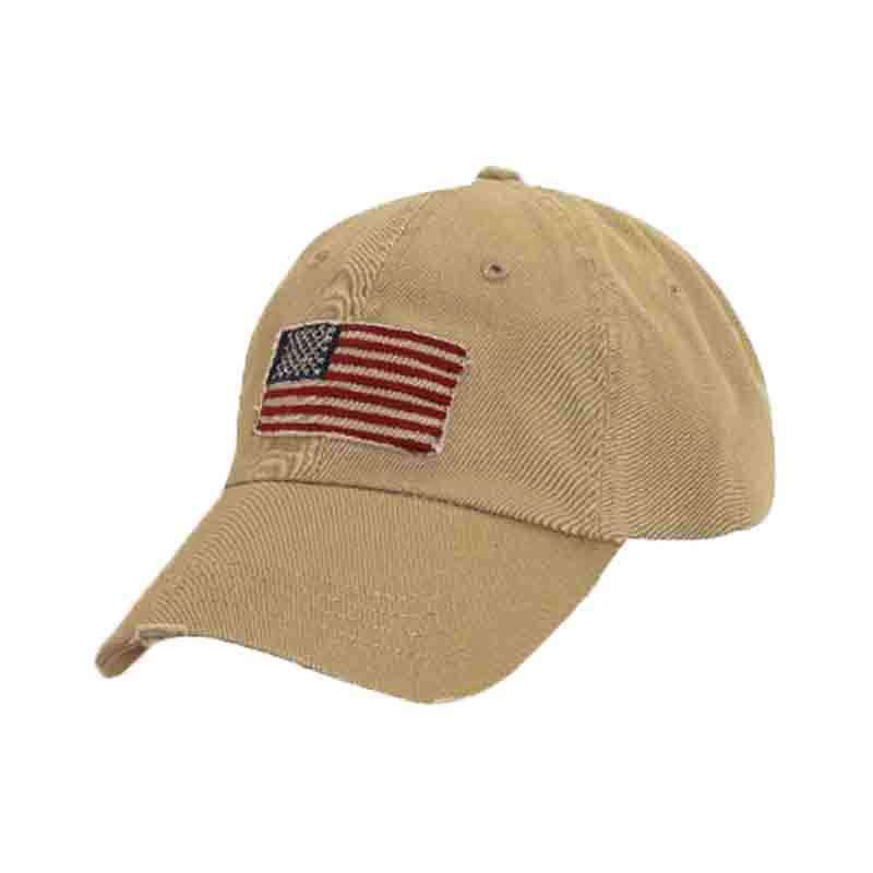 DPC Distressed Twill Cap with Frayed USA Flag - SetarTrading Hats