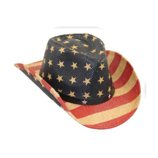 Small Heads USA Patriotic Cowboy Hat with Star Studded Band - Jeanne Simmons Hats