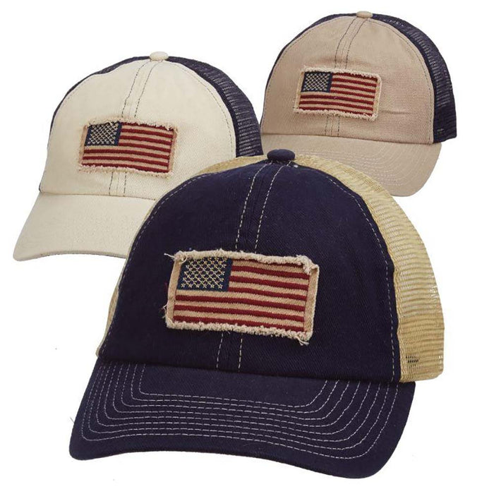 DPC Unstructured Trucker's Cap with USA Flag