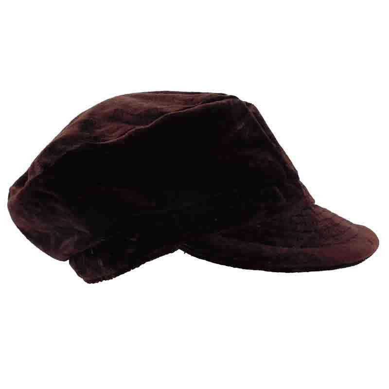 Brown Velvet Cadet Cap by JSA - SetarTrading Hats