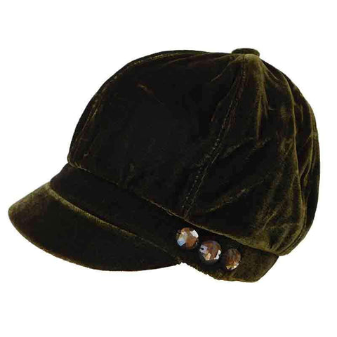 Velvet Slouchy Cap with Studds by JSA