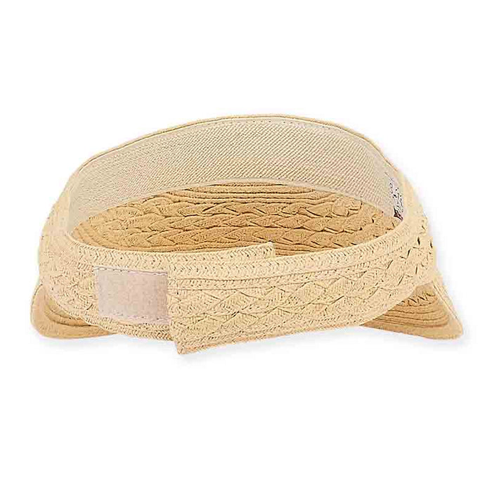 Villa Cross Braid Sun Visor - Sun 'N' Sand