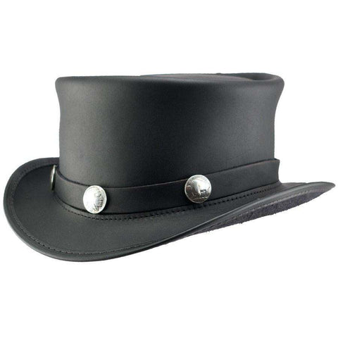 El Dorado Leather Steampunk Top Hat - Black